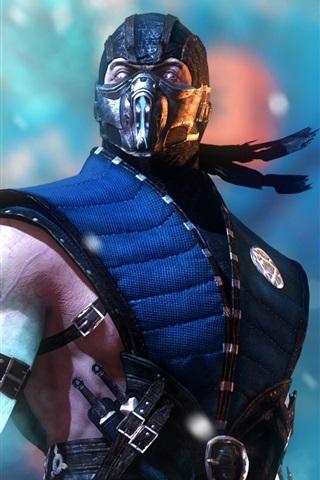 iPhone Wallpaper Mortal Kombat X, ninja