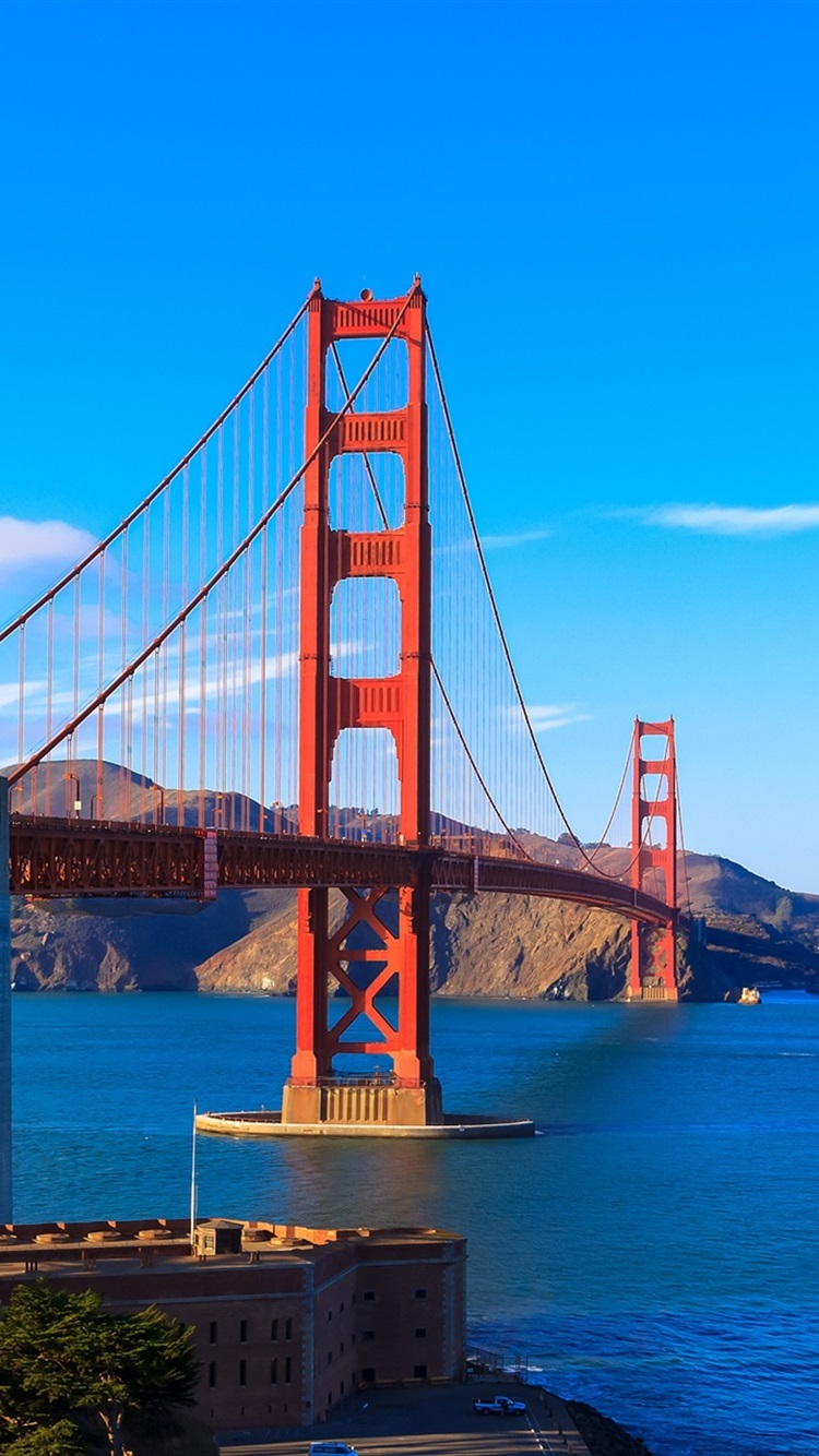 San Francisco Golden Gate Bridge Bay Clouds Usa 750x1334 Iphone 8 7 6 6s Wallpaper Background Picture Image