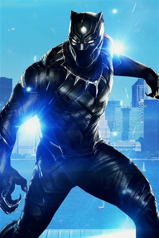iPhone Wallpaper 2018 movie, Black Panther