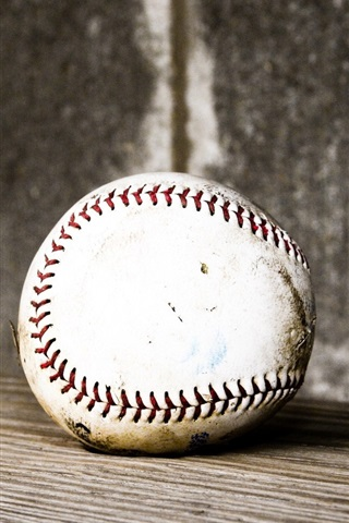 iPhone Wallpaper Baseball, wood board