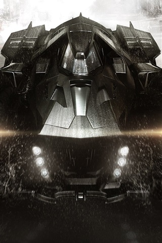 iPhone Wallpaper Batman: Arkham Knight, PC game, Chariot