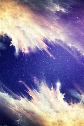 iPhone Wallpaper Beautiful nebula, space