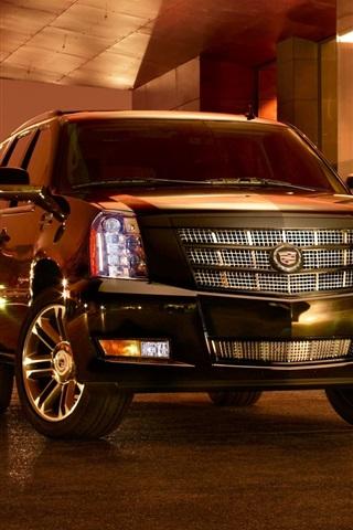 iPhone Wallpaper Cadillac SUV car at night