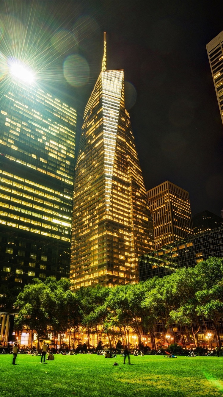 壁紙 都市の夜景 ニューヨーク 公園 高層ビル ライト イルミネーション x1800 Hd 無料のデスクトップの背景 画像