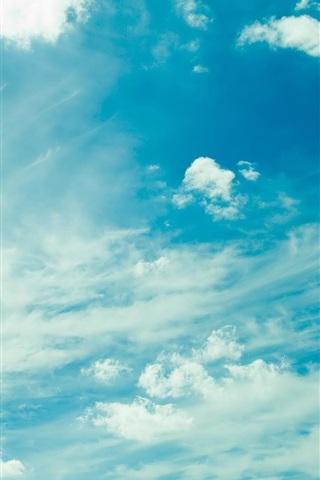 iPhone Wallpaper Cloudy sky, blue