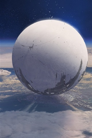 iPhone Wallpaper Destiny, game HD, planet