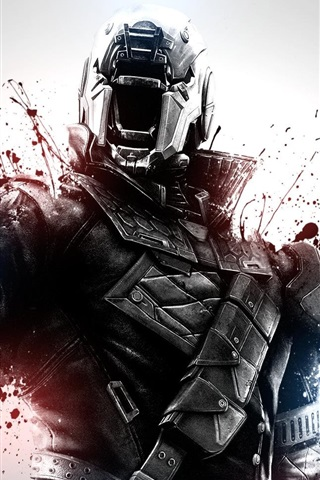 iPhone Wallpaper Destiny, soldier, blood, games HD