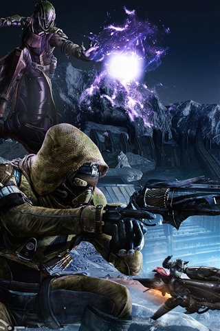 iPhone Wallpaper Destiny, soldiers, alien, games