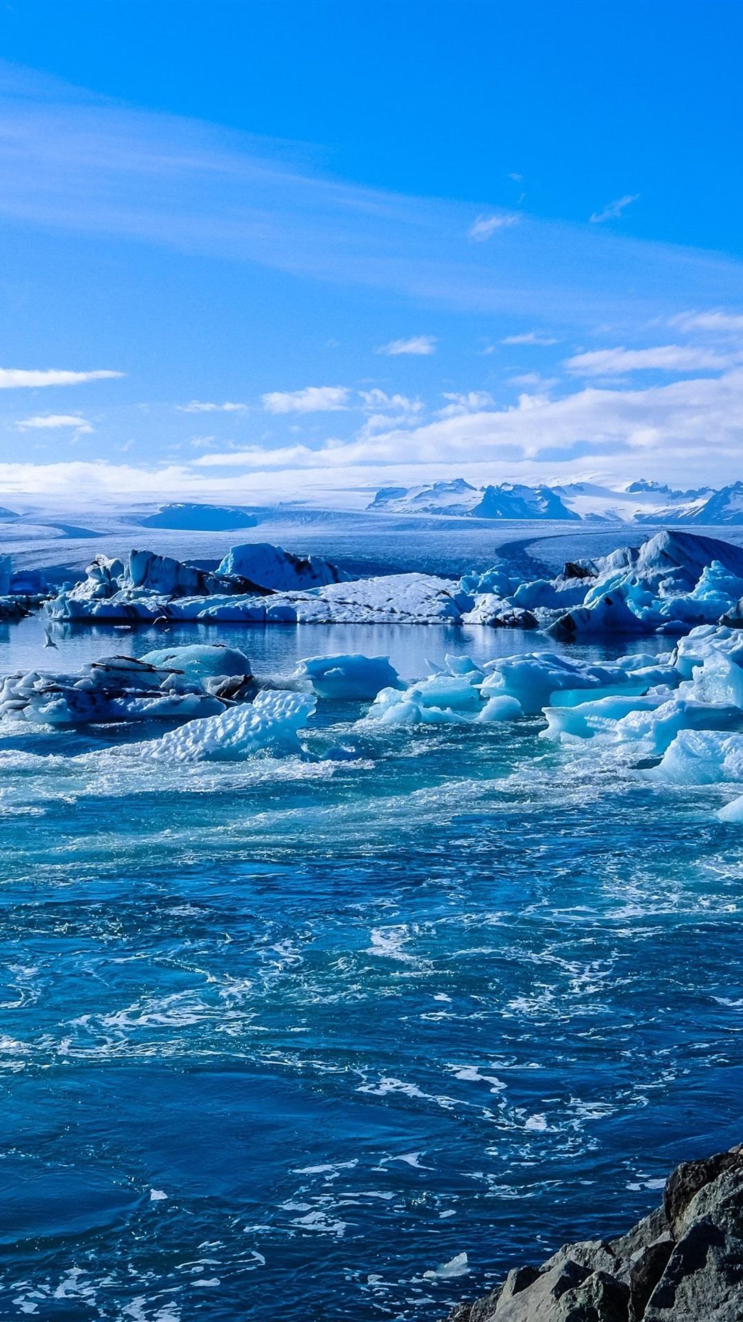 アイスランド 氷 海 海岸 雪 1080x19 Iphone 8 7 6 6s Plus 壁紙 背景 画像