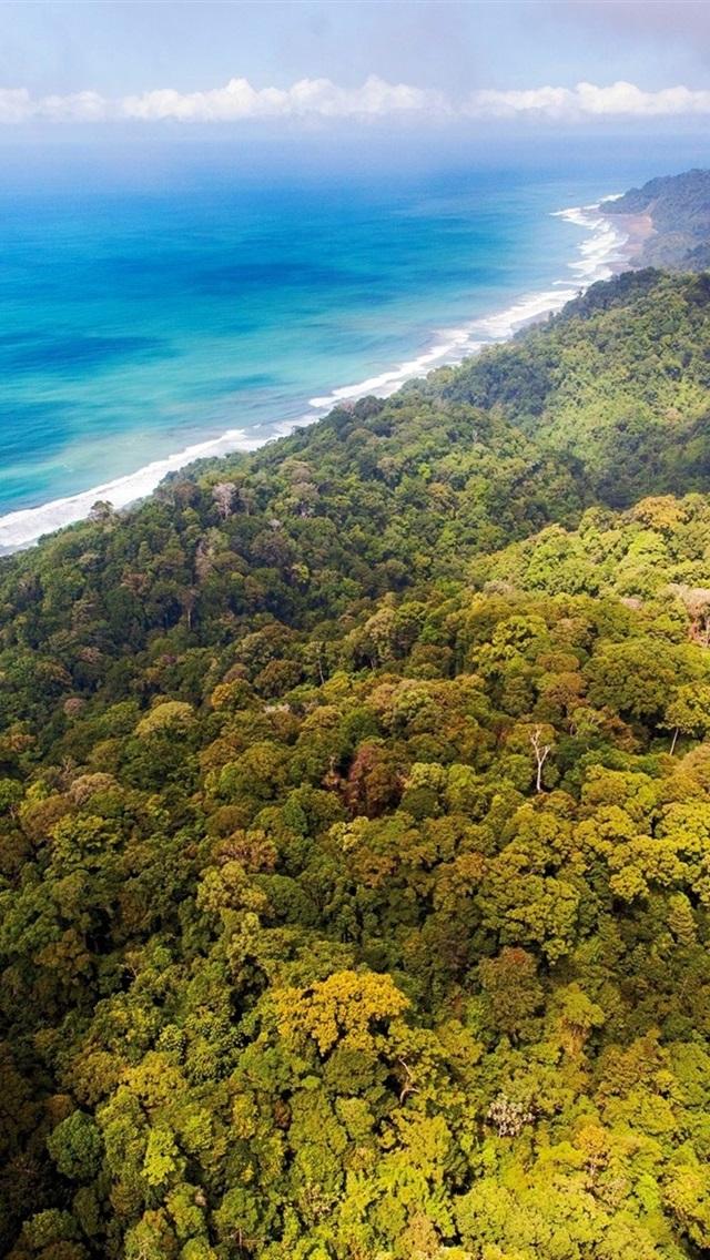 Wallpaper Jungles Forest Coast Blue Sea Clouds Costa Rica 1920x1200 Hd Picture Image