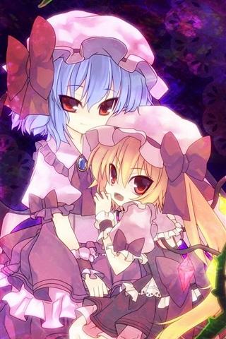 iPhone Wallpaper Lovely two anime girls