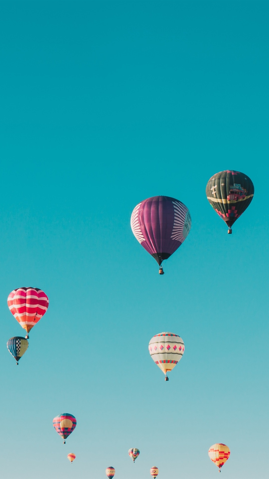 Many Hot Air Balloons Flight Sky Colorful 1080x1920 Iphone