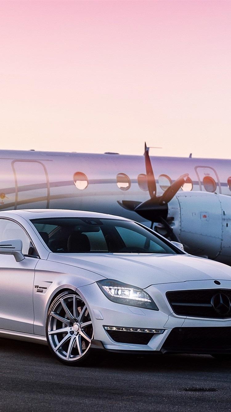 Fonds D 233 Cran Mercedes Benz Voiture Blanche A 233 Roport