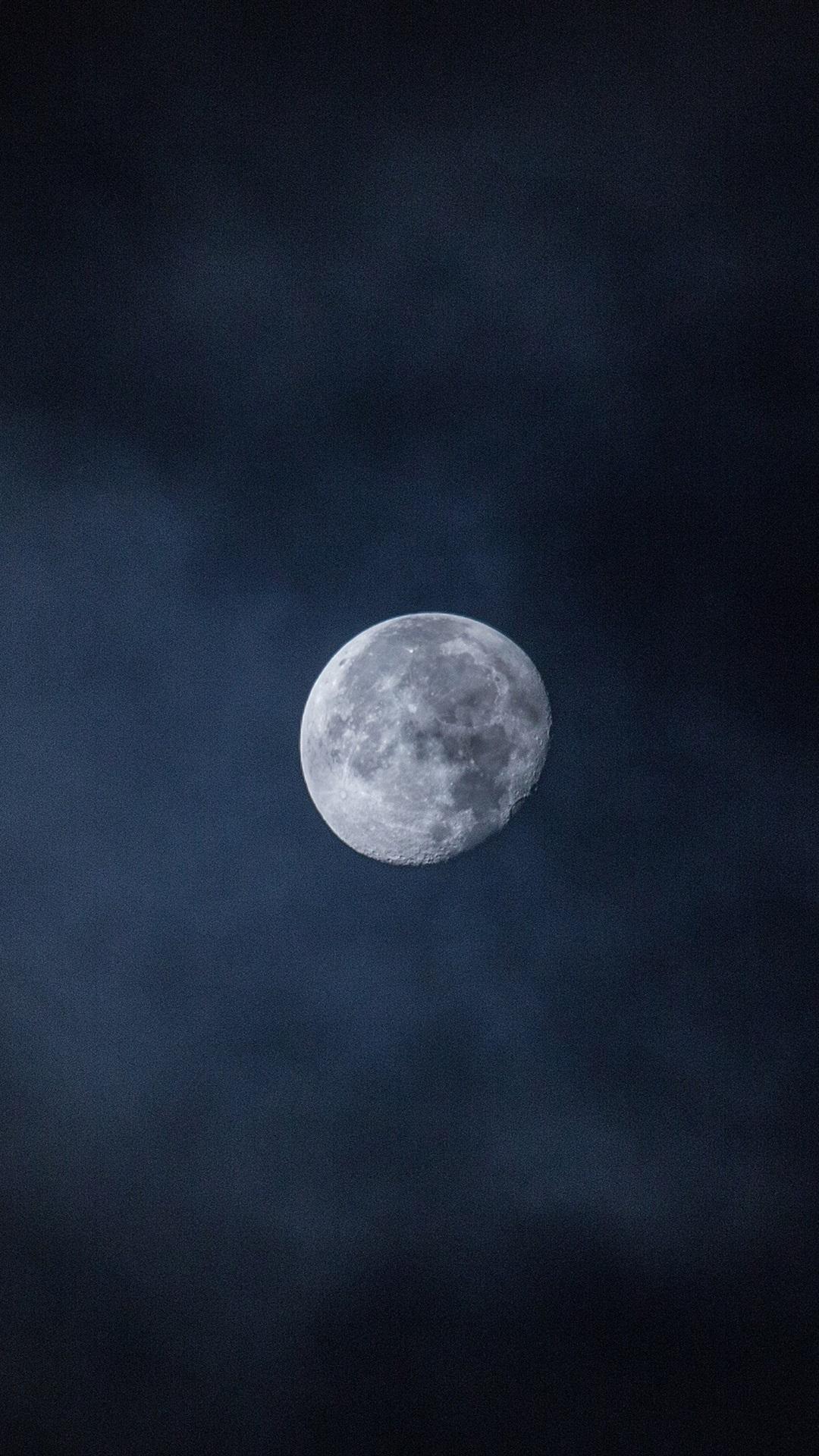 Moon In The Sky Night 1080x1920 Iphone 8 7 6 6s Plus