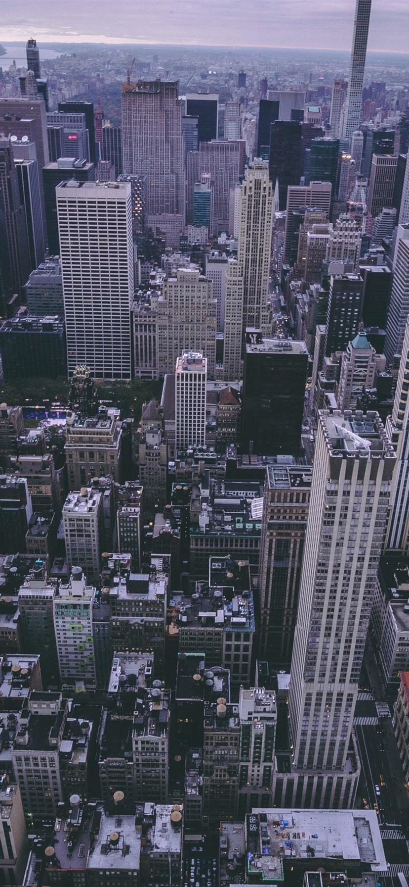 New York Wolkenkratzer Usa Draufsicht Dämmerung