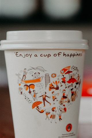 iPhone Wallpaper Paper cup, coffee