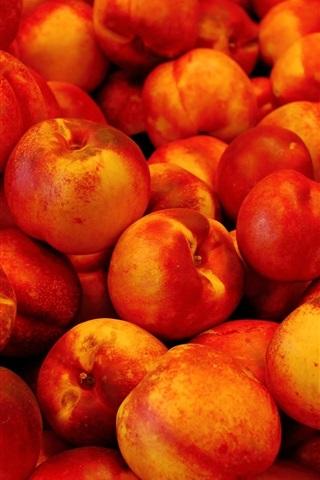iPhone Wallpaper Ripe peaches, delicious fruit