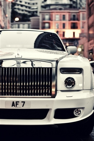 Rolls Royce Phantom White Car Front View 640x1136 Iphone 5