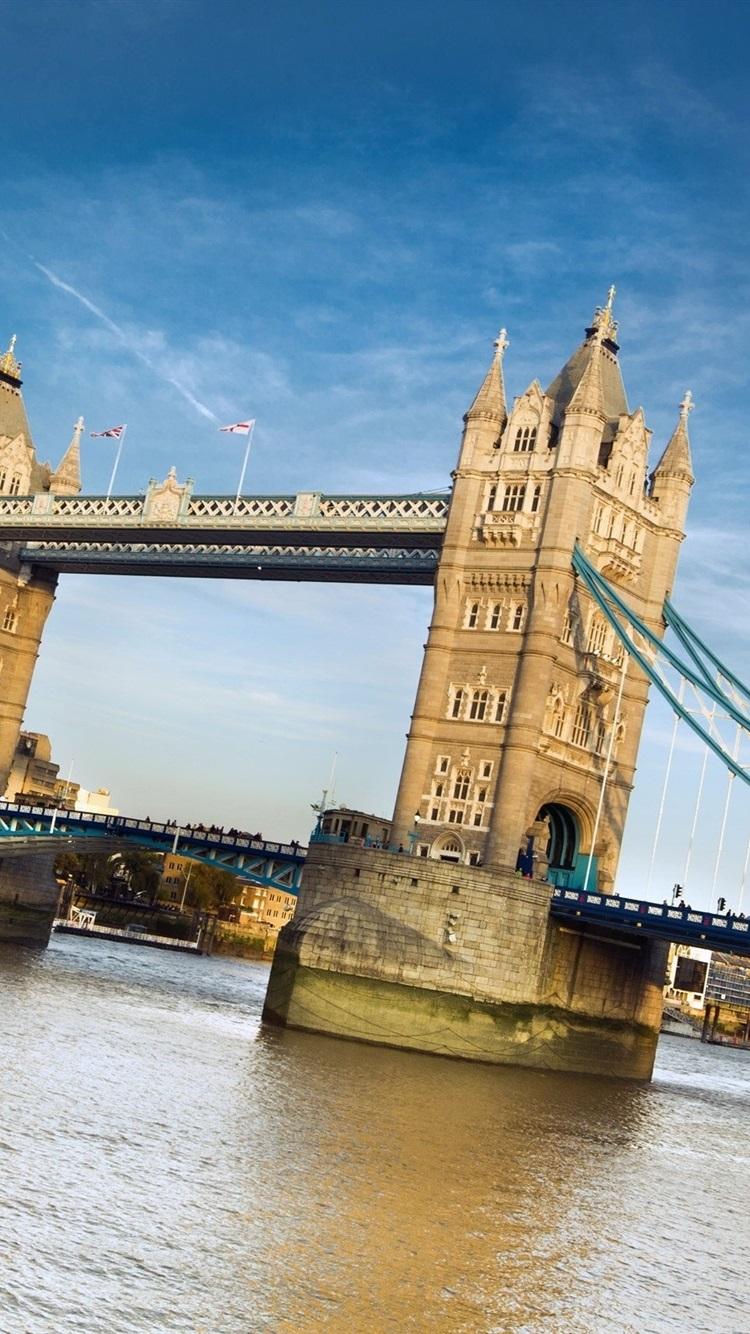 Tower Bridge London England River Blue Sky 750x1334 Iphone 8 7 6