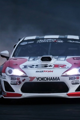 iPhone Wallpaper Toyota race car front view