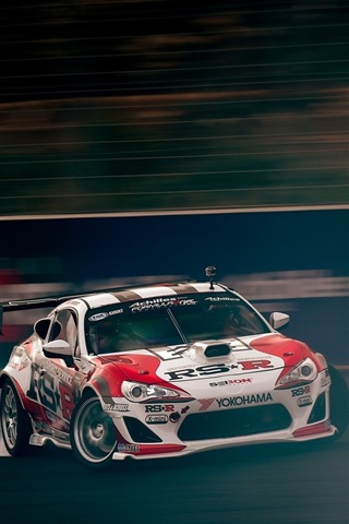 iPhone Wallpaper Toyota race car speed, drift
