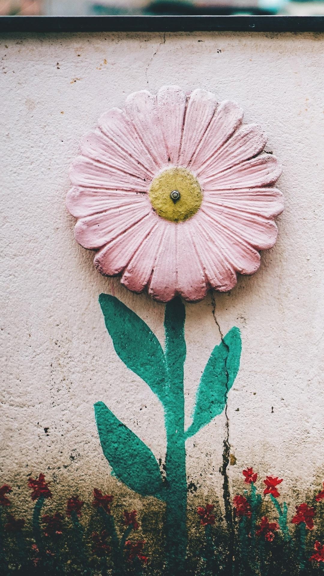 ed18db8ce4d Fondos de pantalla Pared, flor, pintura 3840x2160 UHD 4K Imagen