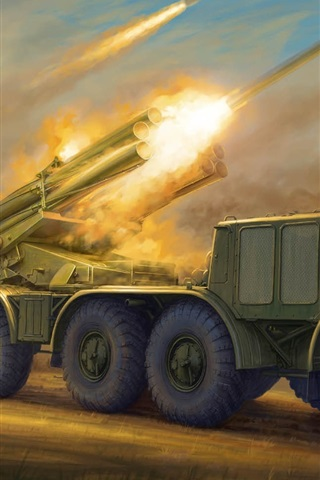 iPhone Wallpaper 9K57 Hurricane rocket cannon