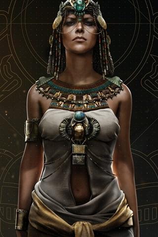 iPhone Wallpaper Assassin's Creed: Origins, Cleopatra, Ubisoft games