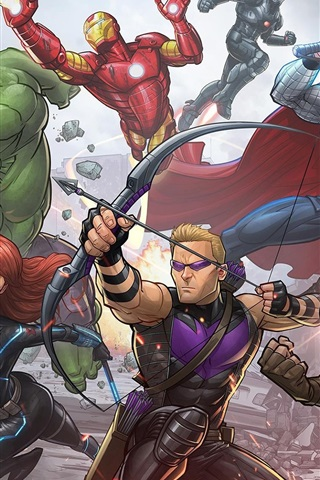 iPhone Hintergrundbilder Avengers: Age of Ultron, Superhelden, Kunstbild