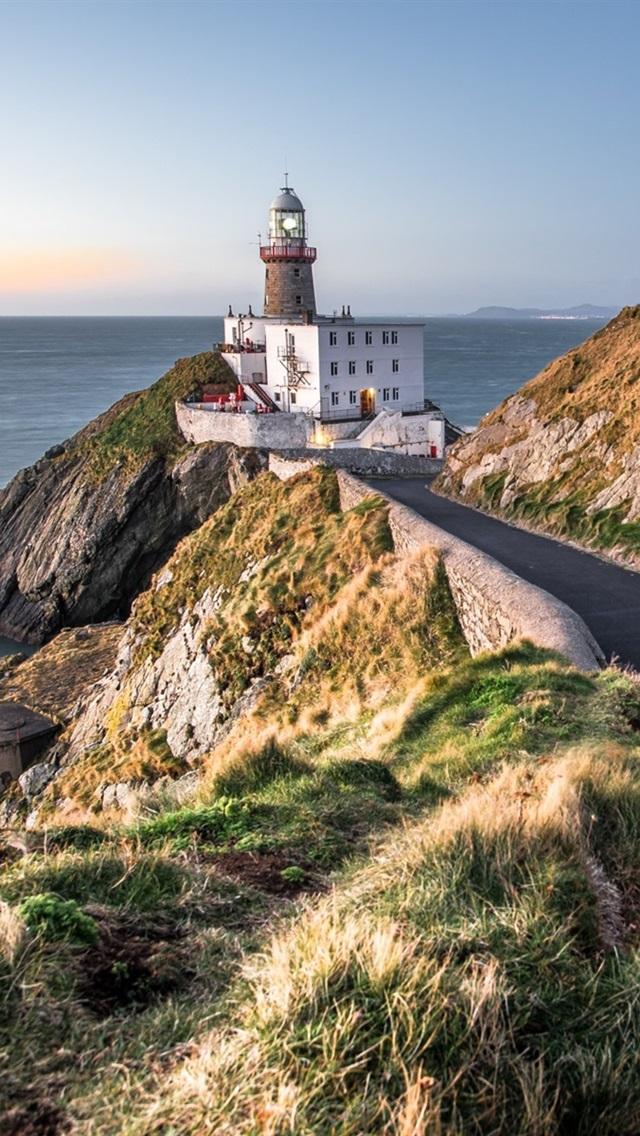 Baily Lighthouse Dublin Ireland Road Sea Coast 640x1136