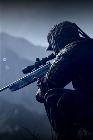 iPhone Papéis de Parede Battlefield 4, soldado, sniper