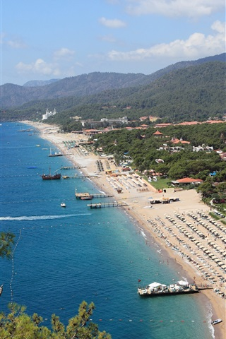 iPhone Wallpaper Beach, sea, coast, resort