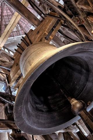 iPhone Wallpaper Big bell, temple