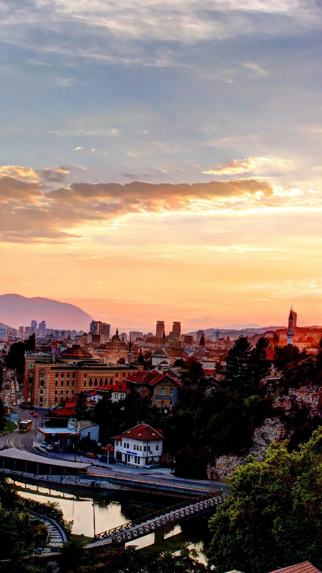 Fonds D écran Bosnie Herzégovine Sarajevo Ville Maisons