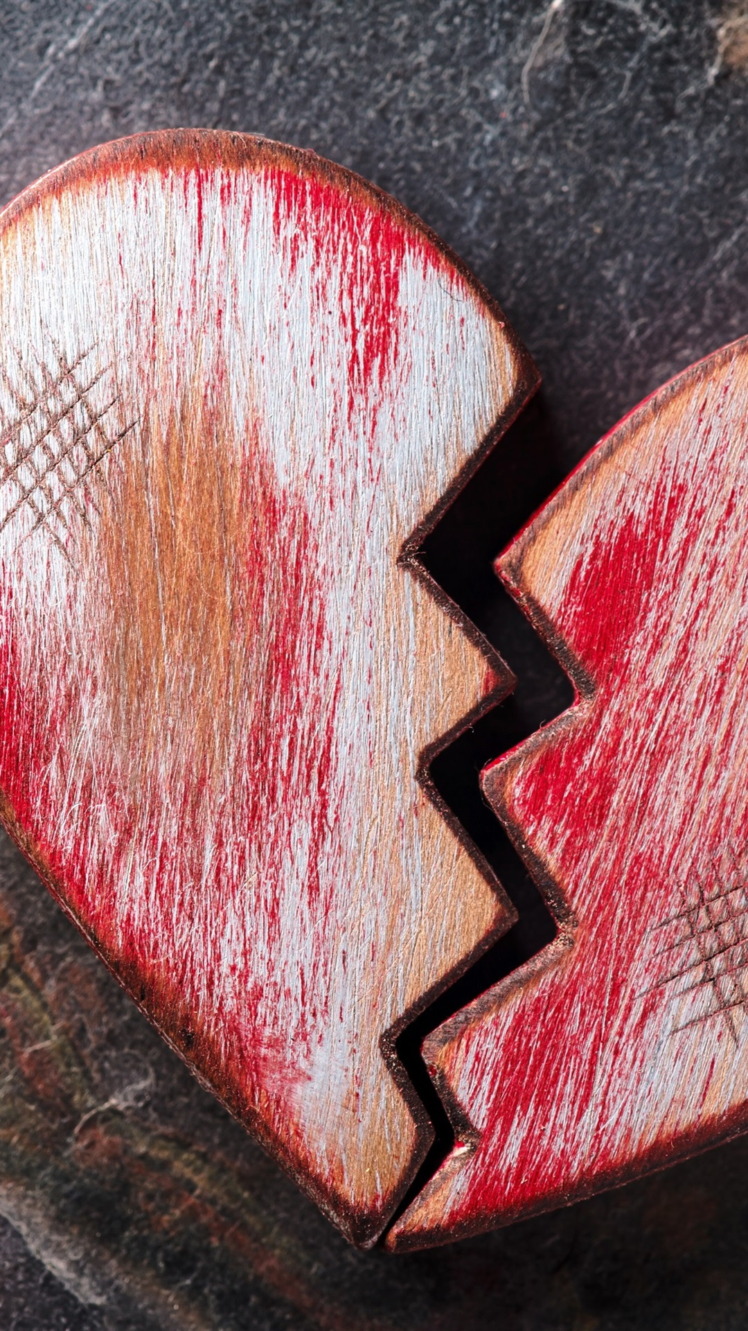 Wallpaper Broken Heart Wooden 3840x2160 Uhd 4k Picture Image