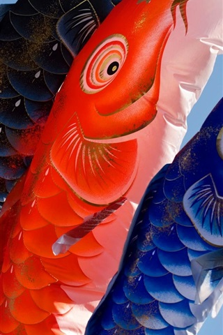 Carp Lanterns Japanese Culture 640x960 Iphone 44s