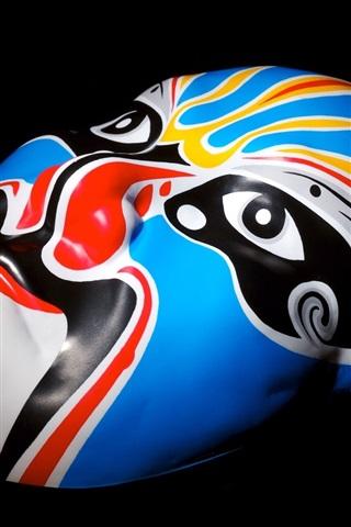 iPhone Wallpaper Chinese Peking Opera mask