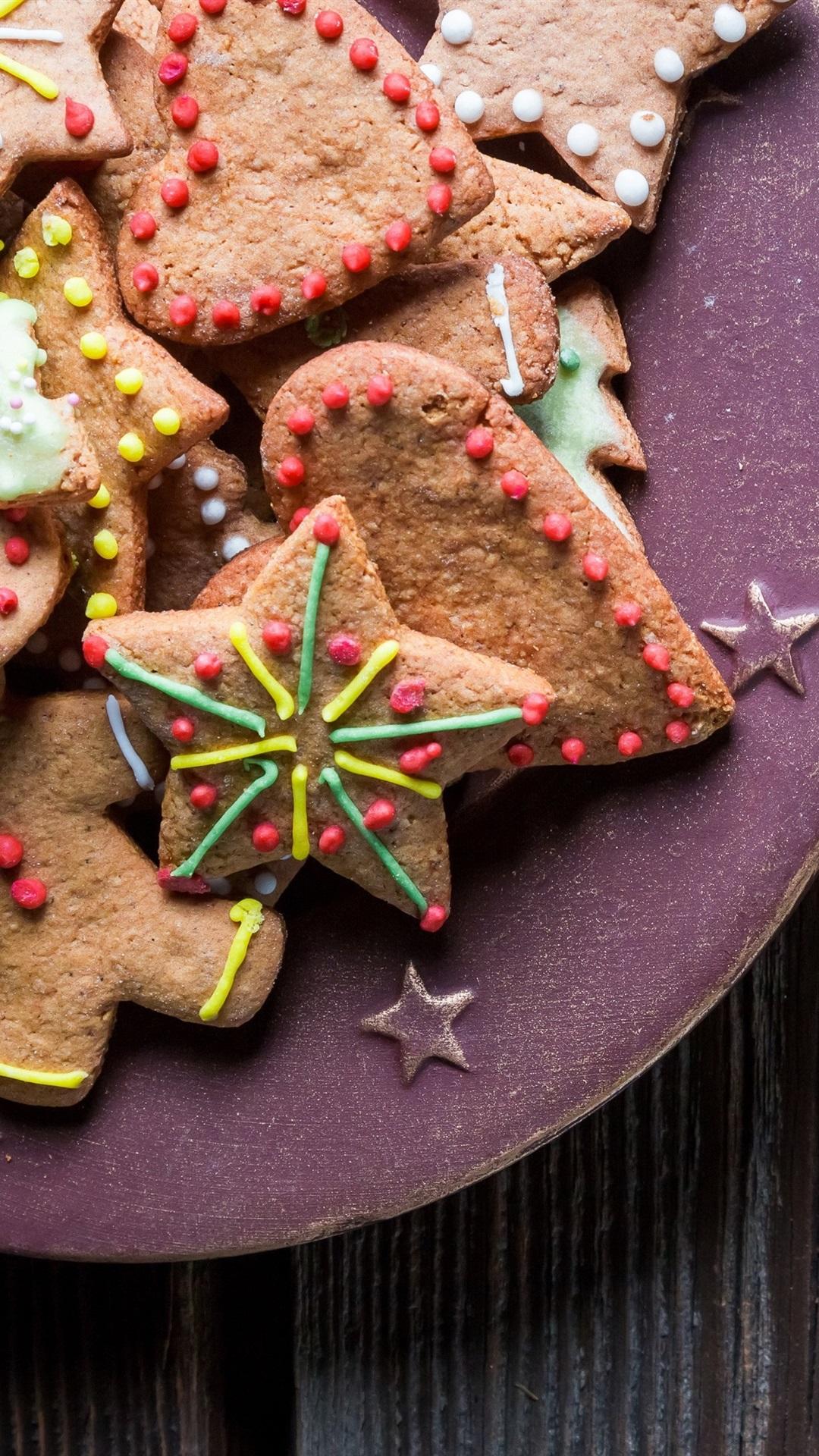 クリスマステーマ クッキー ミルク 1080x1920 Iphone 8 7 6 6s Plus