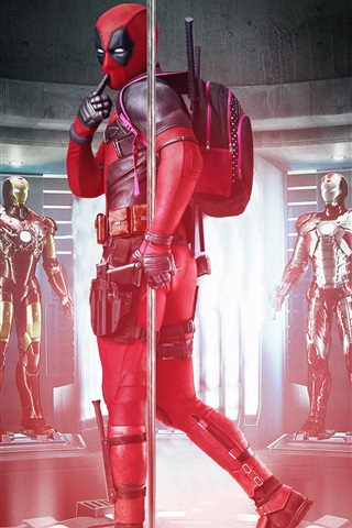 iPhone Wallpaper Deadpool, Iron Man