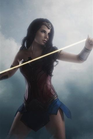 iPhone Hintergrundbilder Diana, Cosplay, Rüstung, Wonder Woman