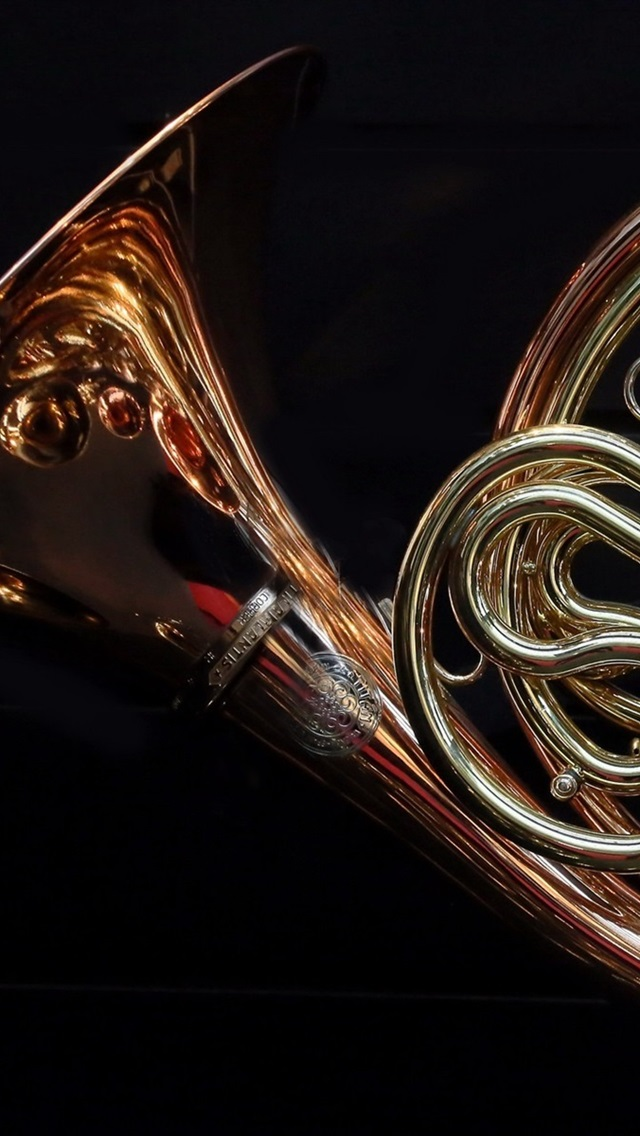 French Horn Black Background 640x1136 Iphone 55s5cse