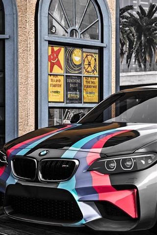 iPhone Papéis de Parede GTA 5, BMW M2 carro