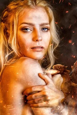 iPhone Wallpaper Game of Thrones, Daenerys Targaryen, cosplay girl