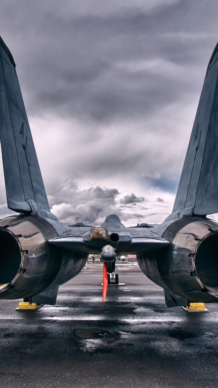Rückansicht des Jet Flugzeugs 21x21 iPhone 21/21/21/21S ...
