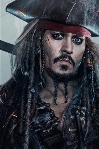 iPhone Papéis de Parede Johnny Depp, Piratas do Caribe 5