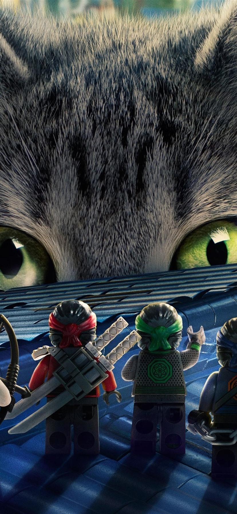 Lego movie ninjago and big cat 1080x1920 iphone 8 7 6 6s - Ninjago phone wallpaper ...