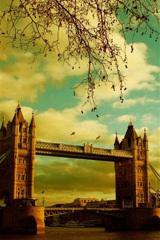 iPhone Wallpaper London, Tower Bridge, river, summer, England