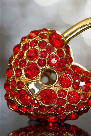 Love Heart Lock Diamond Decoration 640x1136 Iphone 5 5s 5c Se