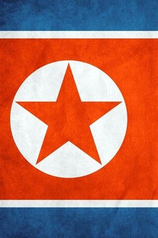 iPhone Wallpaper North Korea flag