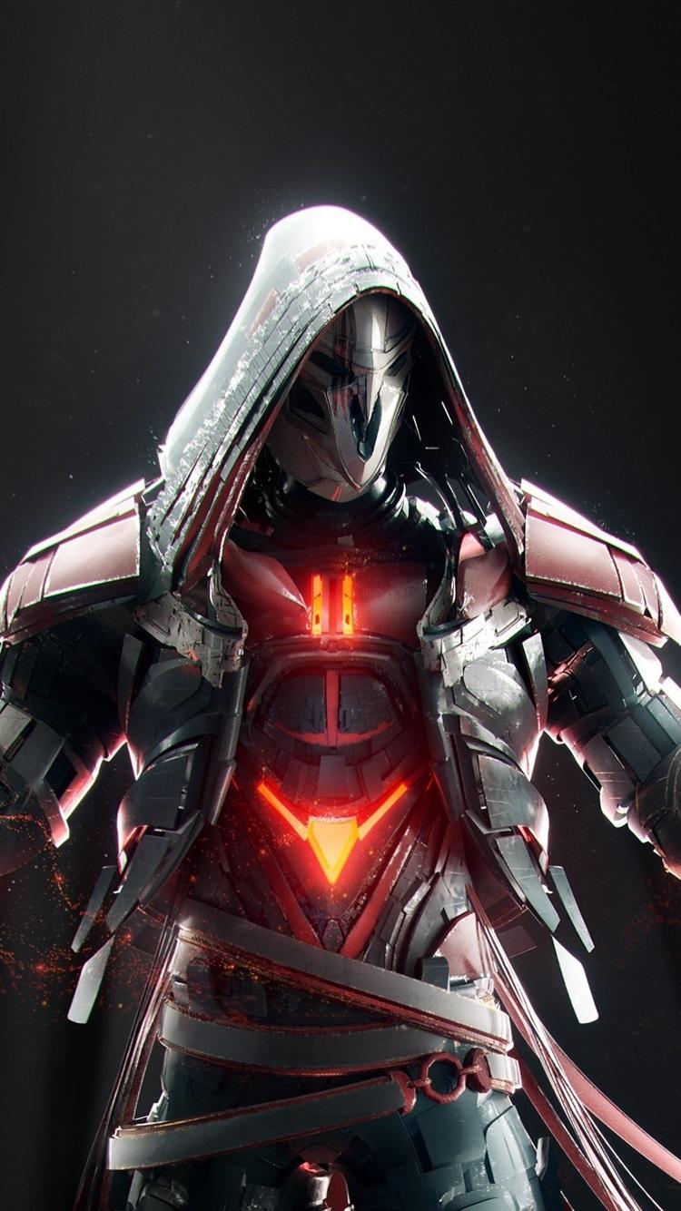 Overwatch Reaper Waffe Maske 2560x1600 Hd